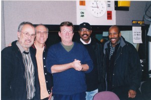 Chris Brown picked a Bob James track. On extreme left with Larry Carlton,Harvey Mason, Nathan East and in the middle Robbie Vincent.